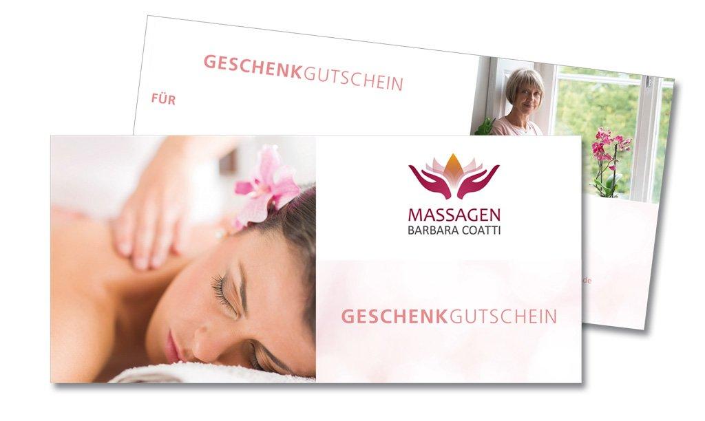 Geschenk-Gutschein für Massagen